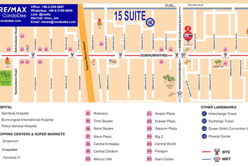 15 Suite condo - map