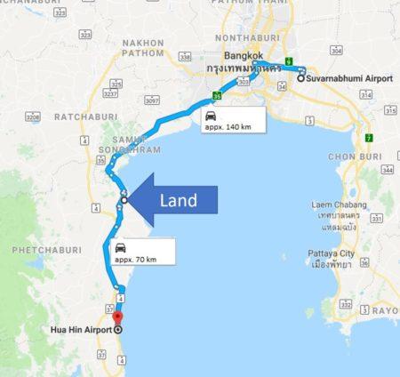 Prime Beachfront Land for Sale - Between Bangkok and Hua Hin