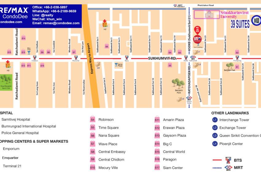 39 Suites Condo in SUkhumvit 39 - map