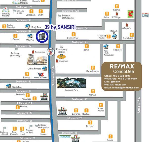 39 by Sansiri condominium - map