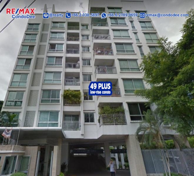 Plus 49 Low-Rise Condominium at Sukhumvit 49 Near BTS Thong Lo