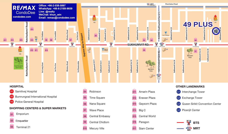Plus 49 Low-Rise Bangkok Condominium on Sukhumvit 49 Near Samitivej Hospital