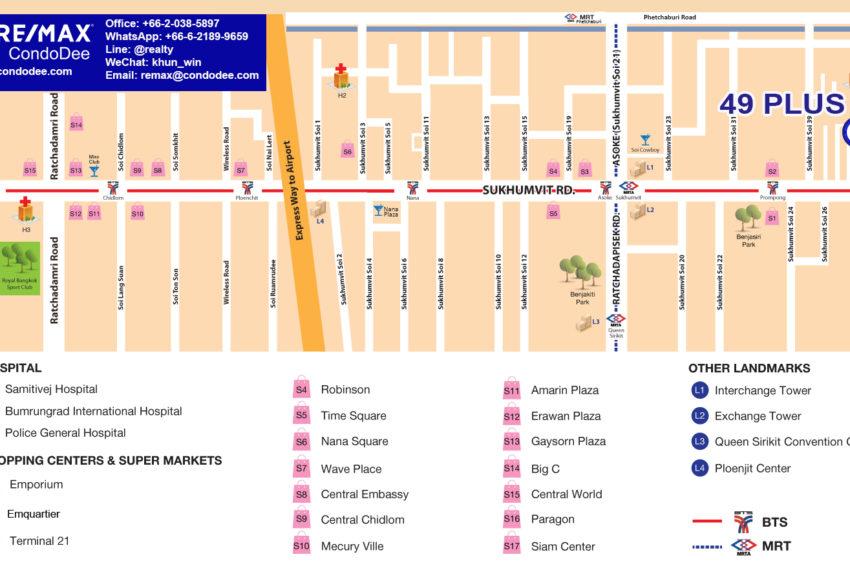 49 Plus condo - map