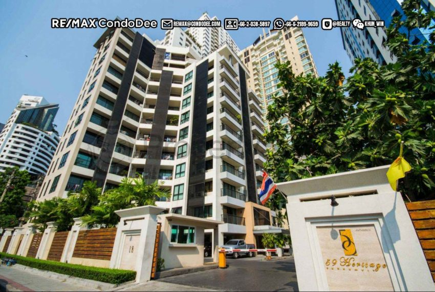 59 Heritage Sukhumvit Bangkok condominium - security gate