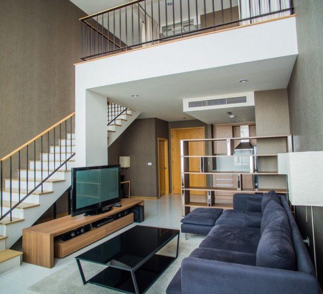 Duplex condo for sale at Sukhumvit 24 - 1 bedroom - high floor - The Emporio Place