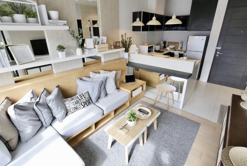 8 tCondo for rent at Thonglor 8 - 1 bedroom - mid-floor - Eight Thonglor Residenceshonglor_Livingroom_Sale