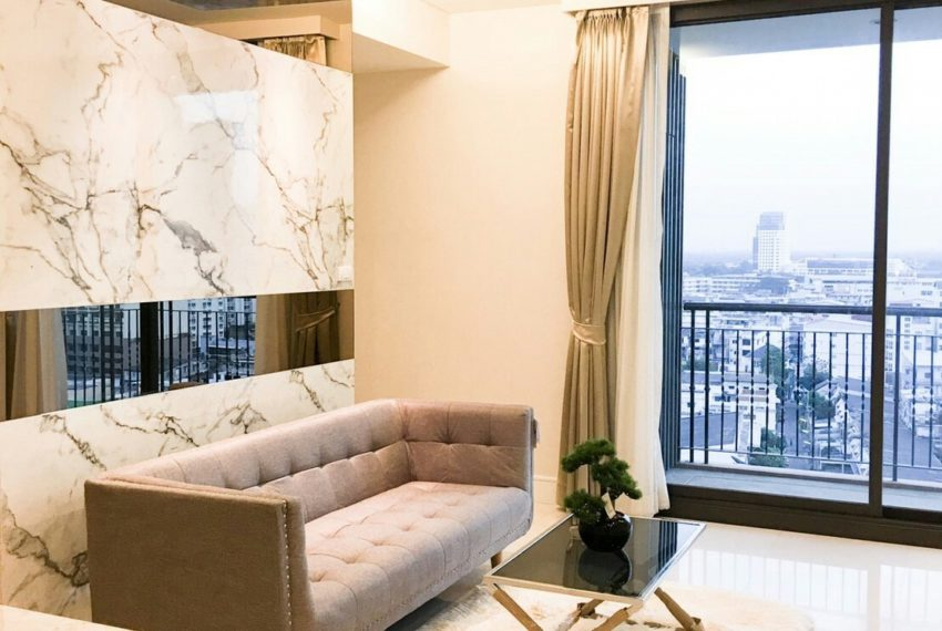 Aguston Sukhumvit 22 2bedroom for sale and rent - living
