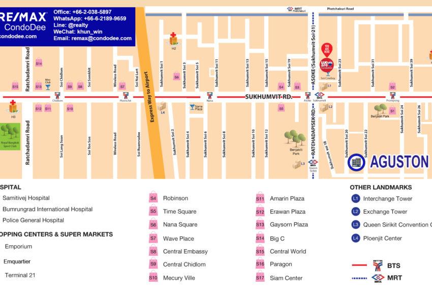 Aguston Sukhumvit 22 - map