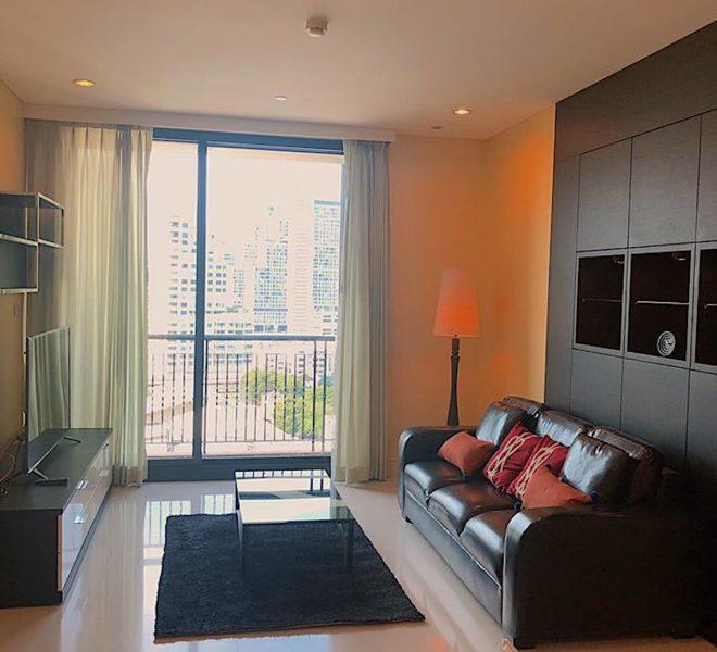 2-bedroom flat for rent in Phrom Phong- mid-floor - corner unit -Aguston Sukhumvit 22 condominium