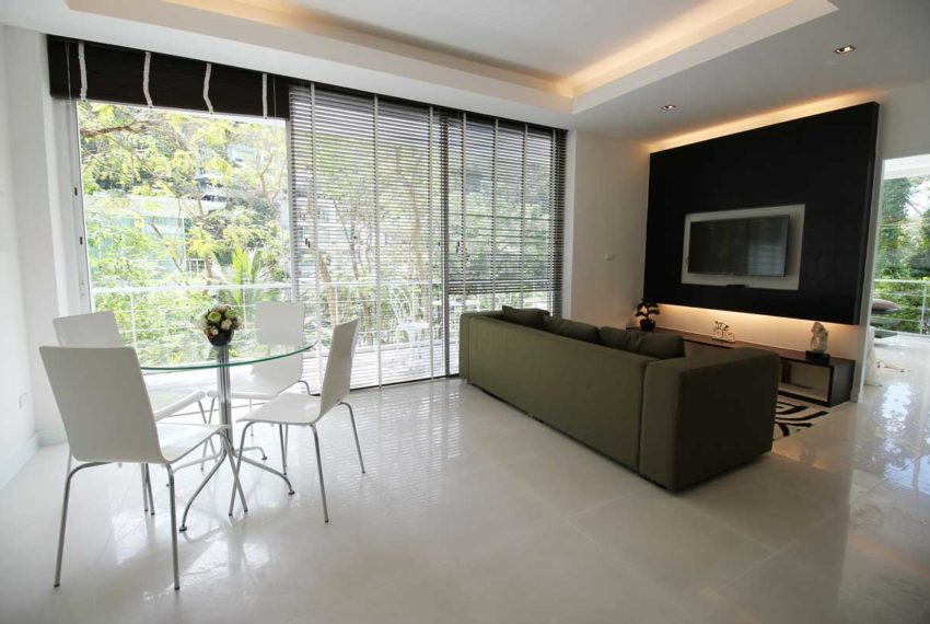 Apartment Phuket Vacation Home Deal in Kamala in The Trees Residence - living area