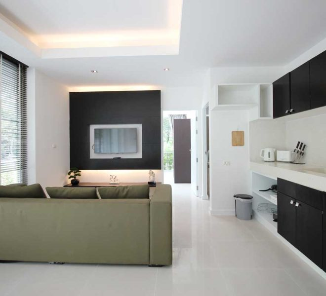 Apartment Phuket Vacation Home Deal in Kamala in The Trees Residence - living room