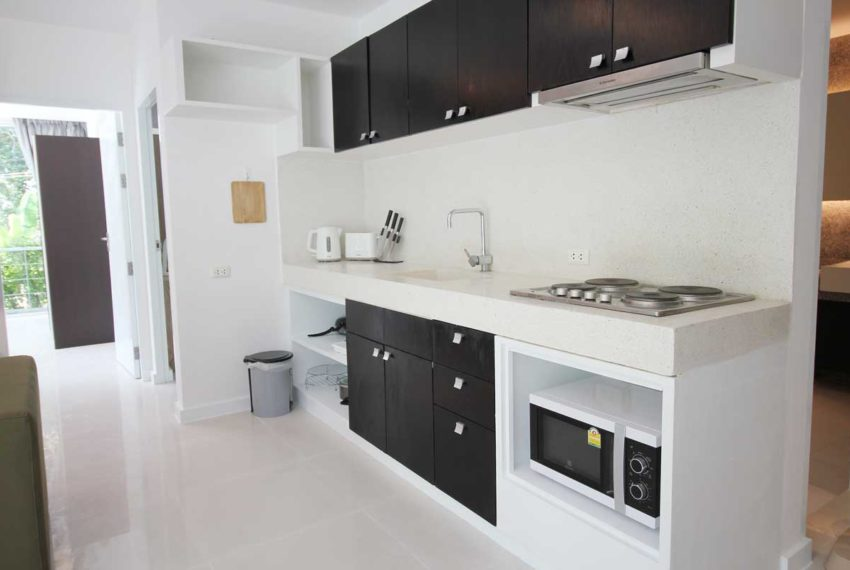 Apartment Phuket Vacation Home Deal in Kamala in The Trees Residence - open kitchen
