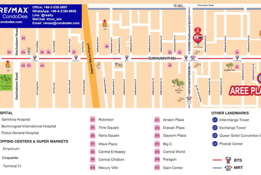 Aree Place Sukhumvit 26 - map