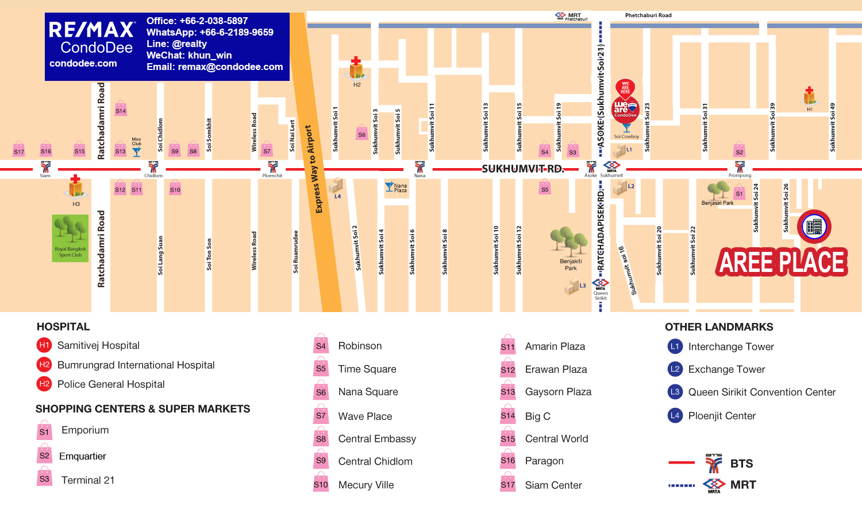 Aree Place Sukhumvit 26 - Bangkok Condo Near BTS Phrom Phong
