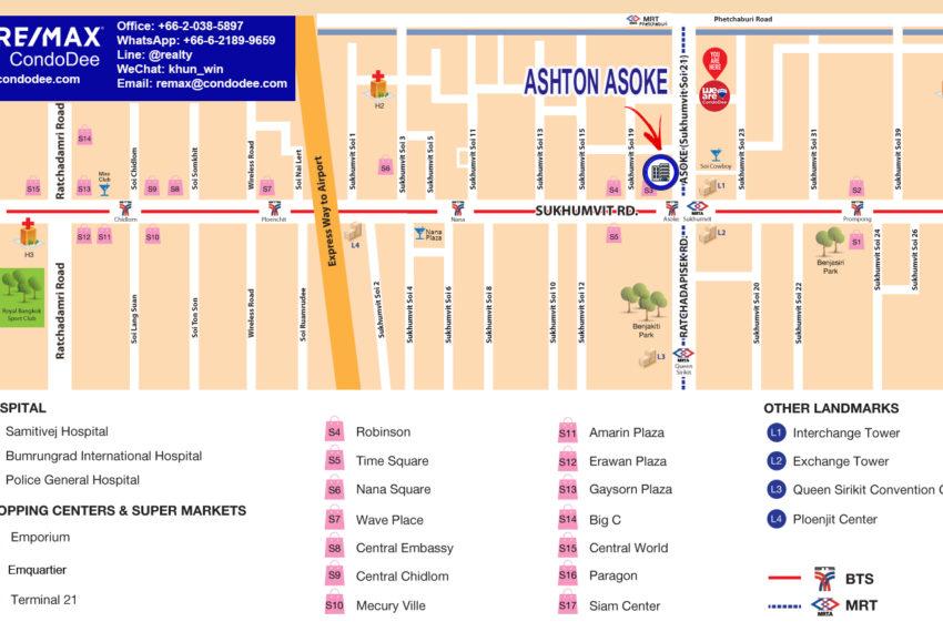 Ashton Asoke condominium - map updated