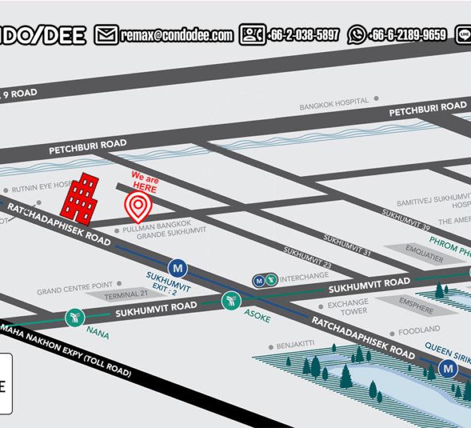 Asoke Place condo - map