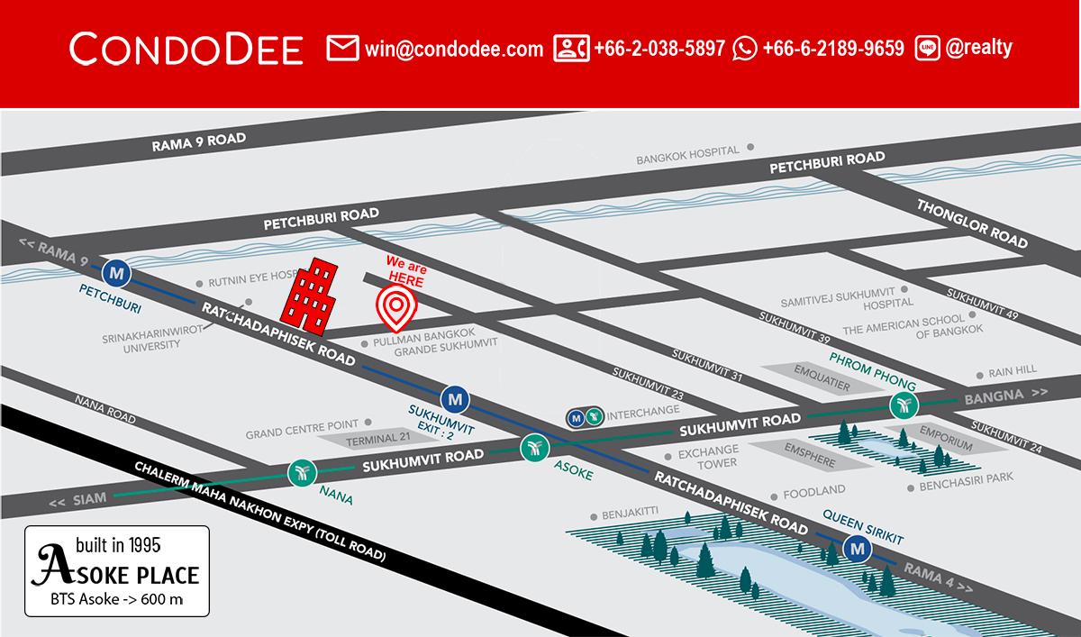Asoke Place Condominium Near BTS Asoke and University