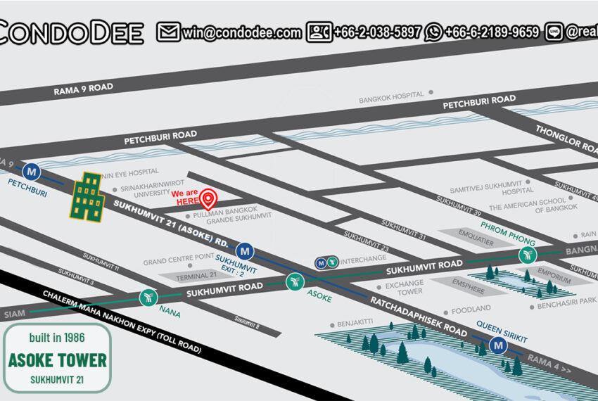 Asoke Tower - map