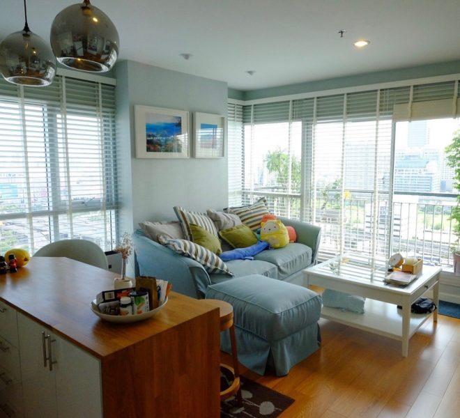 Condo for Sale Near Rama 9 MRT - 2 Bedroom Corner Apartment - High Floor