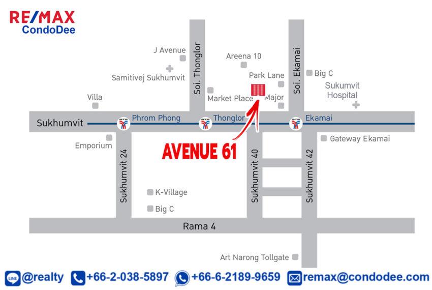 Avenue 61 condominium - map
