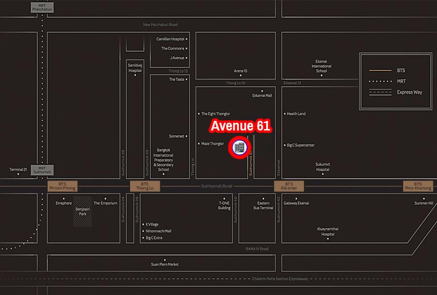 Avenue 61 Bangkok Condominium Near Ekamai BTS