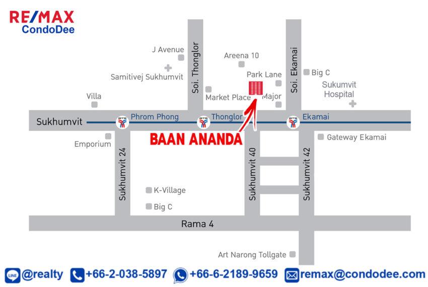 Baan Ananda Sukhumvit 61 - map