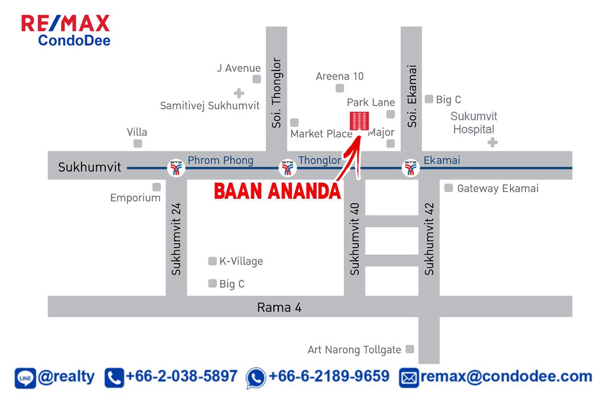 Baan Ananda Sukhumvit 61 Low-Rise Luxury Condominium Near Ekamai BTS
