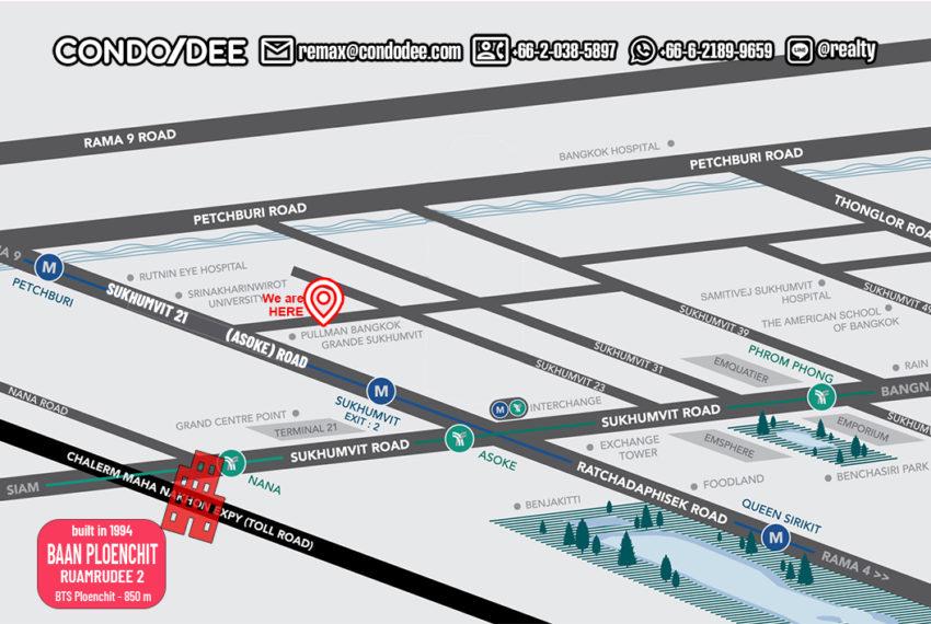 Baan Ploenchit condo - map