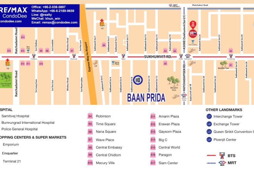 Baan Prida Sukhumvit 8 condo - map