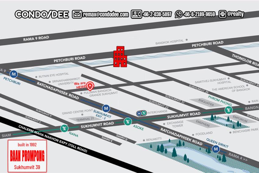 Baan Prompong Sukhumvit 39 condo - map