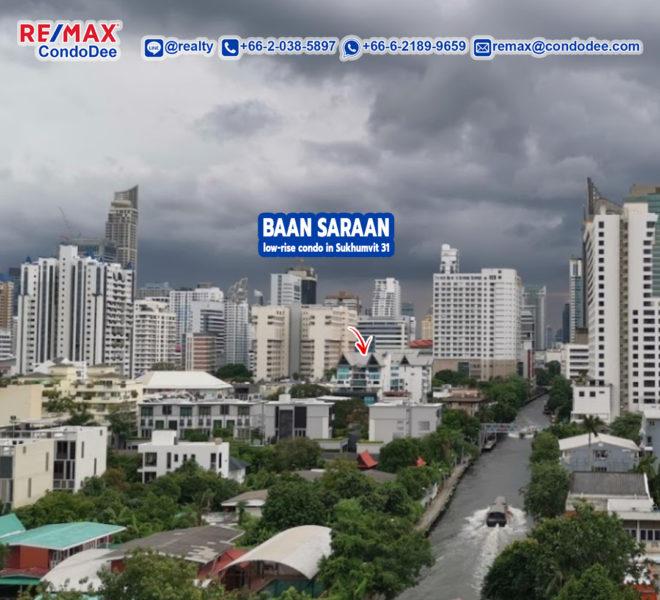Baan Saraan Low-Rise Condominium at Sukhumvit 31 near channel