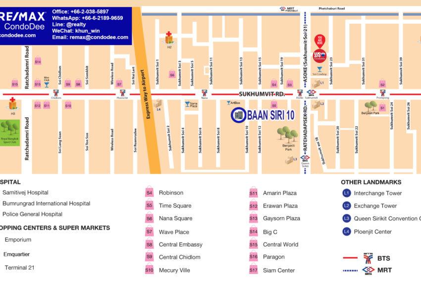 Baan Siri Sukhumvit 10 - map
