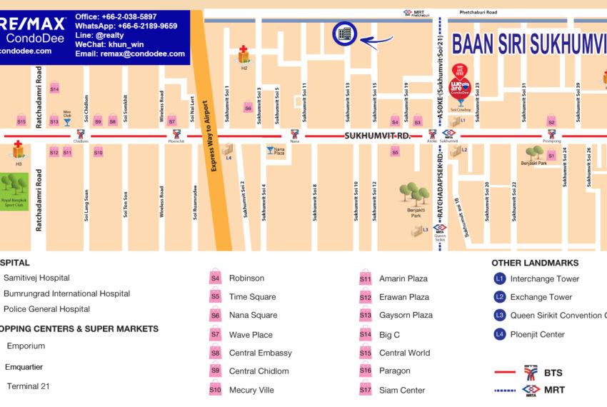 Baan Siri Sukhumvit 13 - map