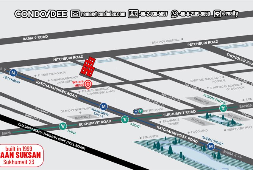 Baan Sukhsan Bangkok condo near Srinakharinwirot University - Map