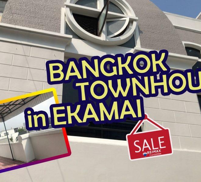 Bangkok townhouse ekkamai sale