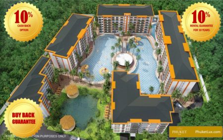 Rental Guarantee 10%, Buy-Back Option and 10% Cash-Back Option - Luxury project 150 m from Bang Tao beach in Phuket