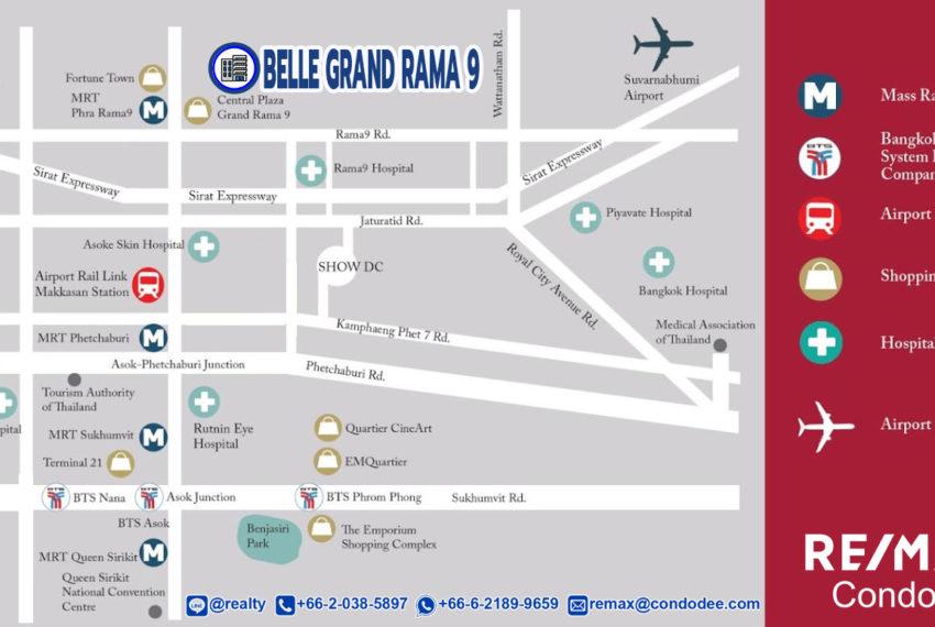 Belle Grand Rama 9 condominium - map