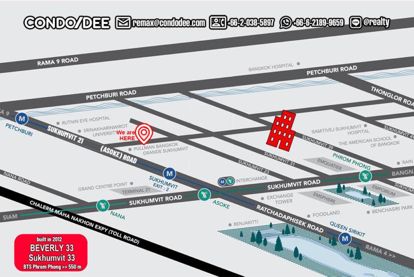 Beverly 33 condo - map