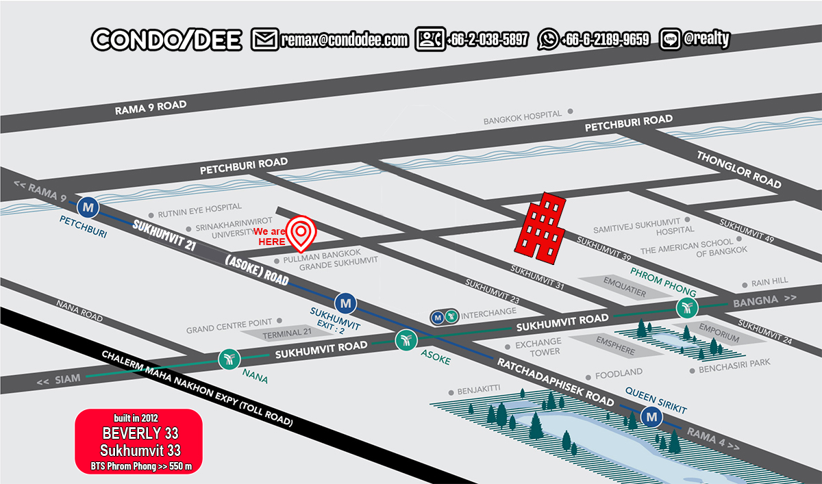 Beverly 33 Condominium in Sukhumvit 33 Near BTS Phrom Phong