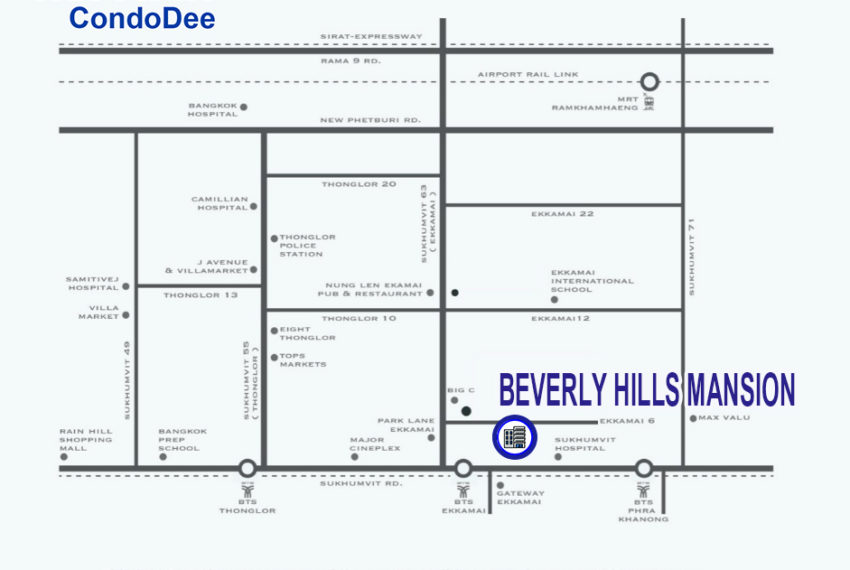 Beverly Hills Mansion - map