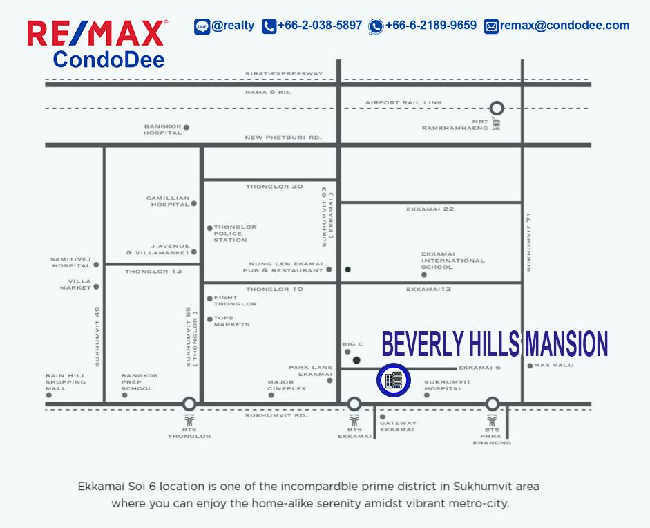 Beverly Hills Mansion older Bangkok condominium in Ekkamai with large apartments