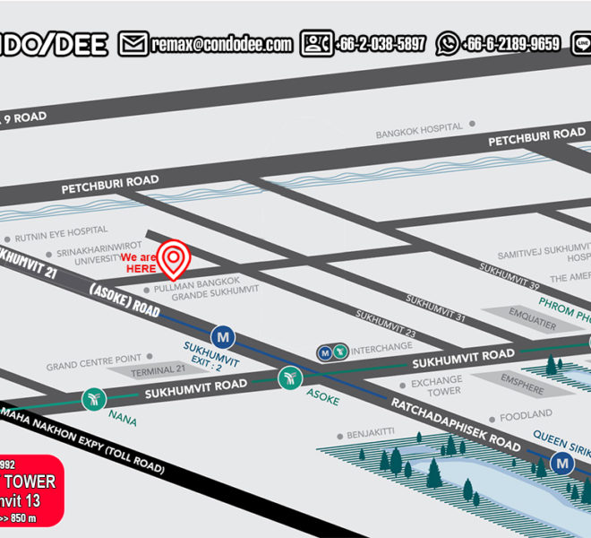 Beverly Tower condominium - map