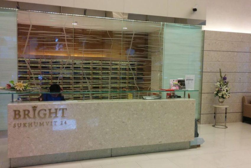 Bright Sukhumvit 24 condominium - reception