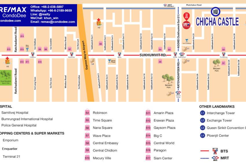 Chicha Castle Townhouses - map