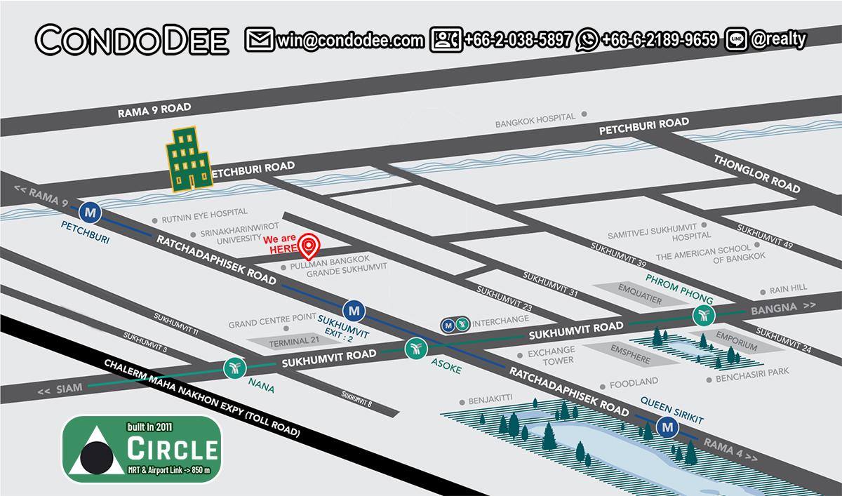 Circle Condominium Near Bumrungrad Hospital - Popular Apartment complex in North Nana