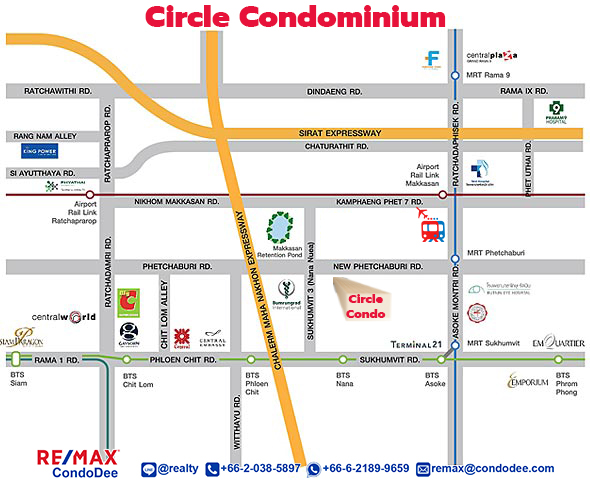 Circle Condominium - Popular Apartment complex in North Nana at Phetchaburi Road