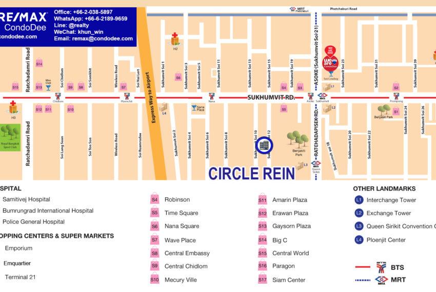 Circle Rein Sukhumvit 12 condominium - map
