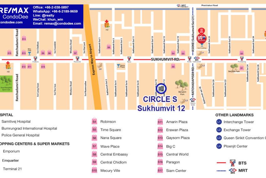 Circle S Sukhumvit 12 condominium - map