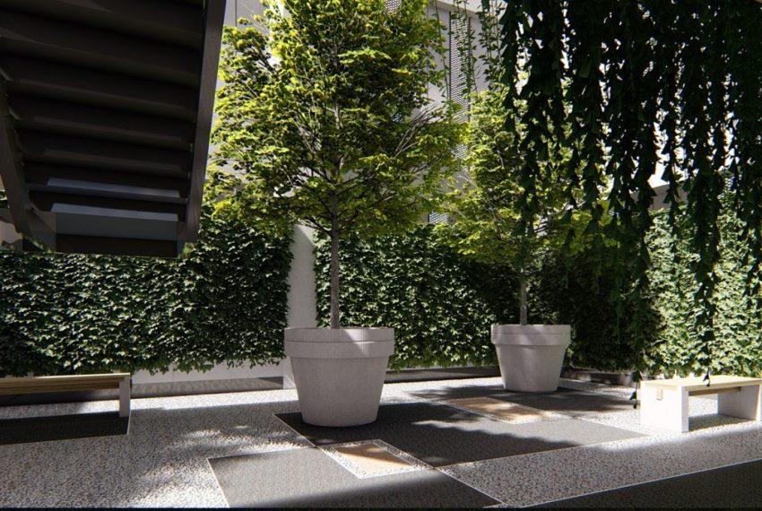 Circle Sukhumvit 11 condo - garden