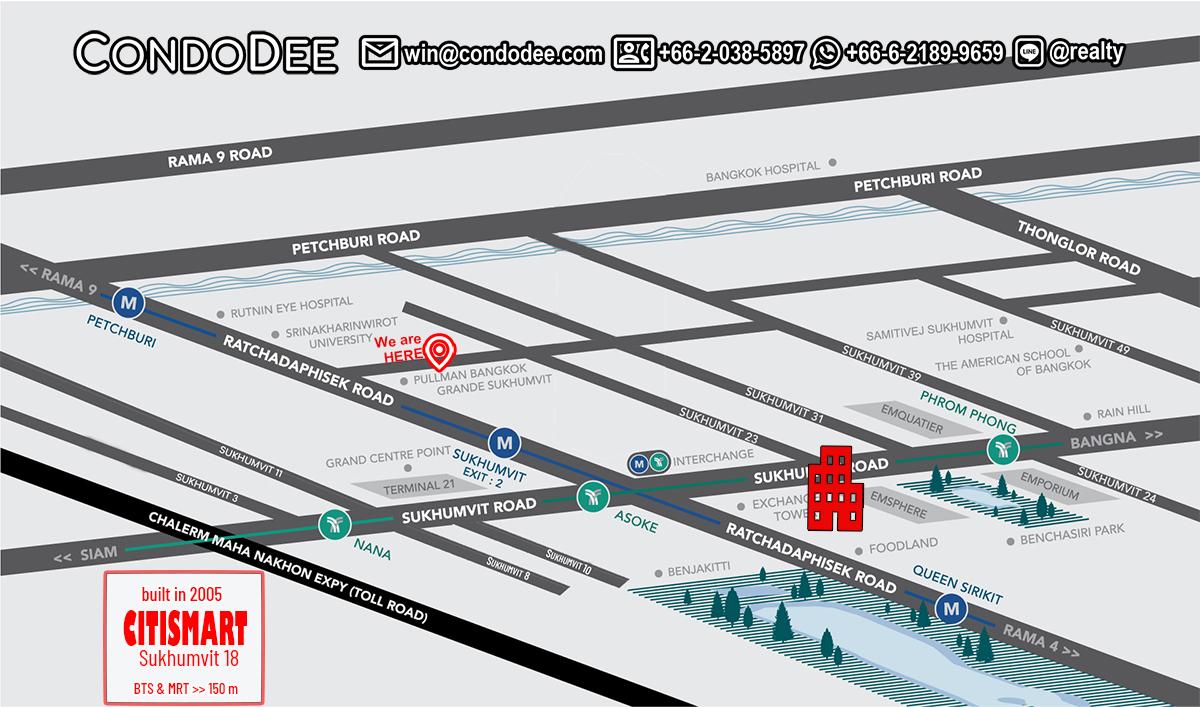 CitiSmart Sukhumvit 18 Condominium Near Asoke BTS